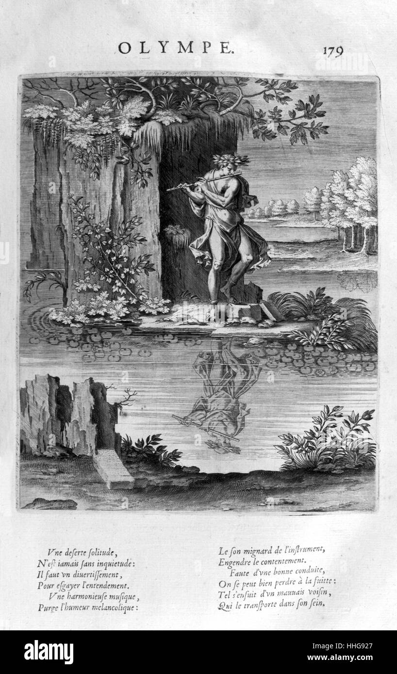 Olympus; Home of the gods in Greek mythology. Plate from Les Images Ou Tableaux De Platte Peinture Des Deux Philostrates Stock Photo