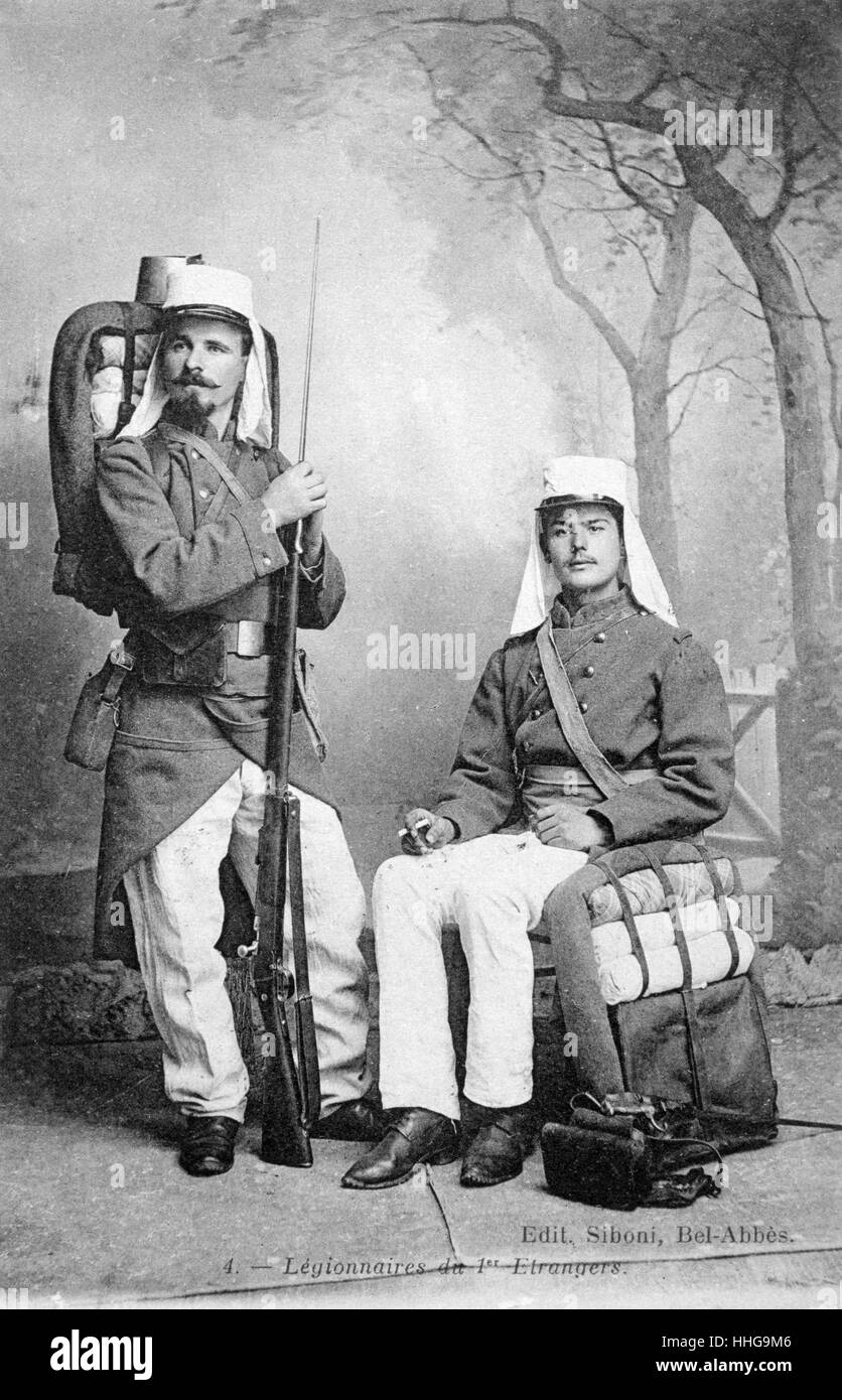 French Foreign legion soldiers in Algeria 1915 - Stock Image