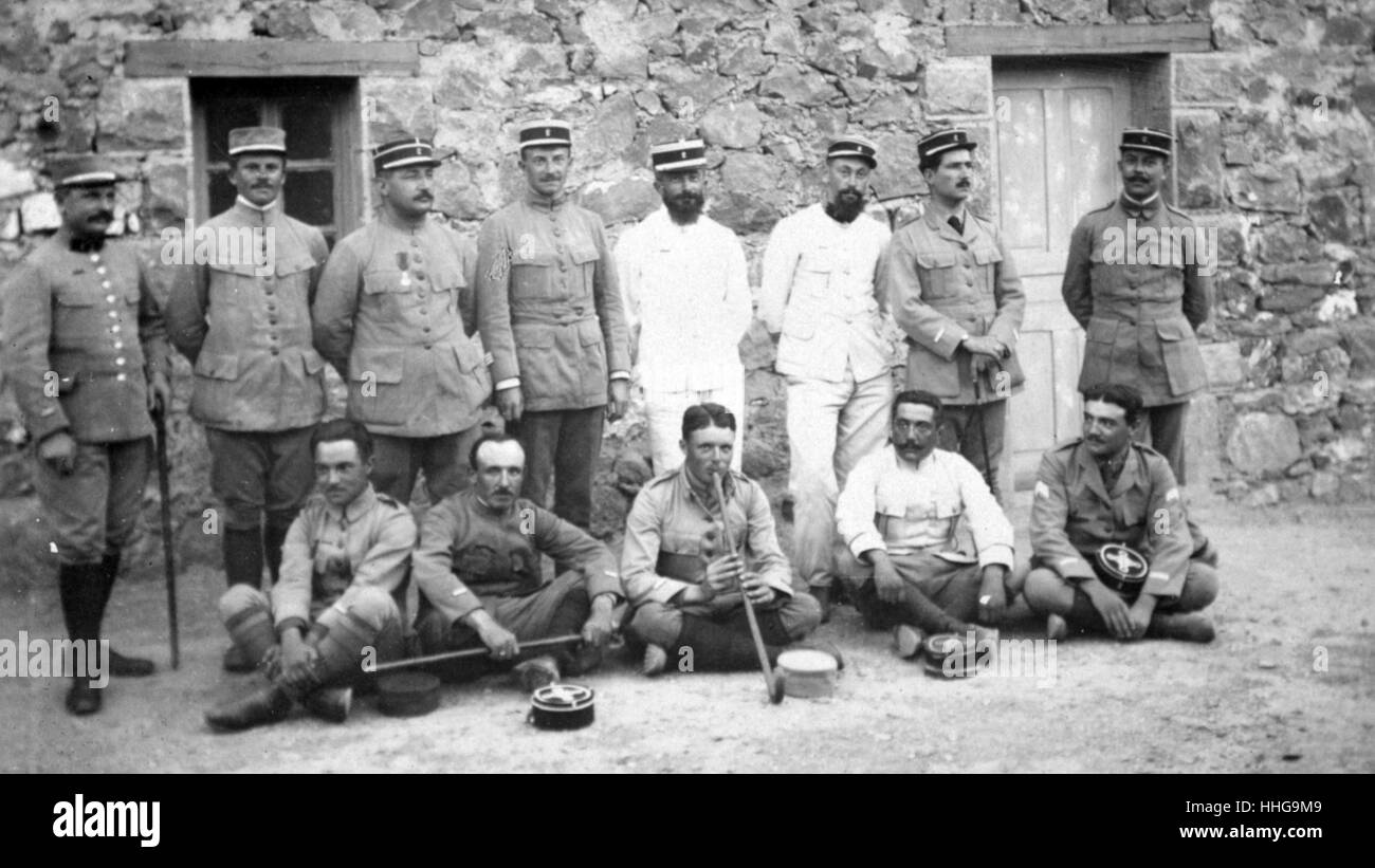 French Foreign legion soldiers in Algeria 1917 - Stock Image