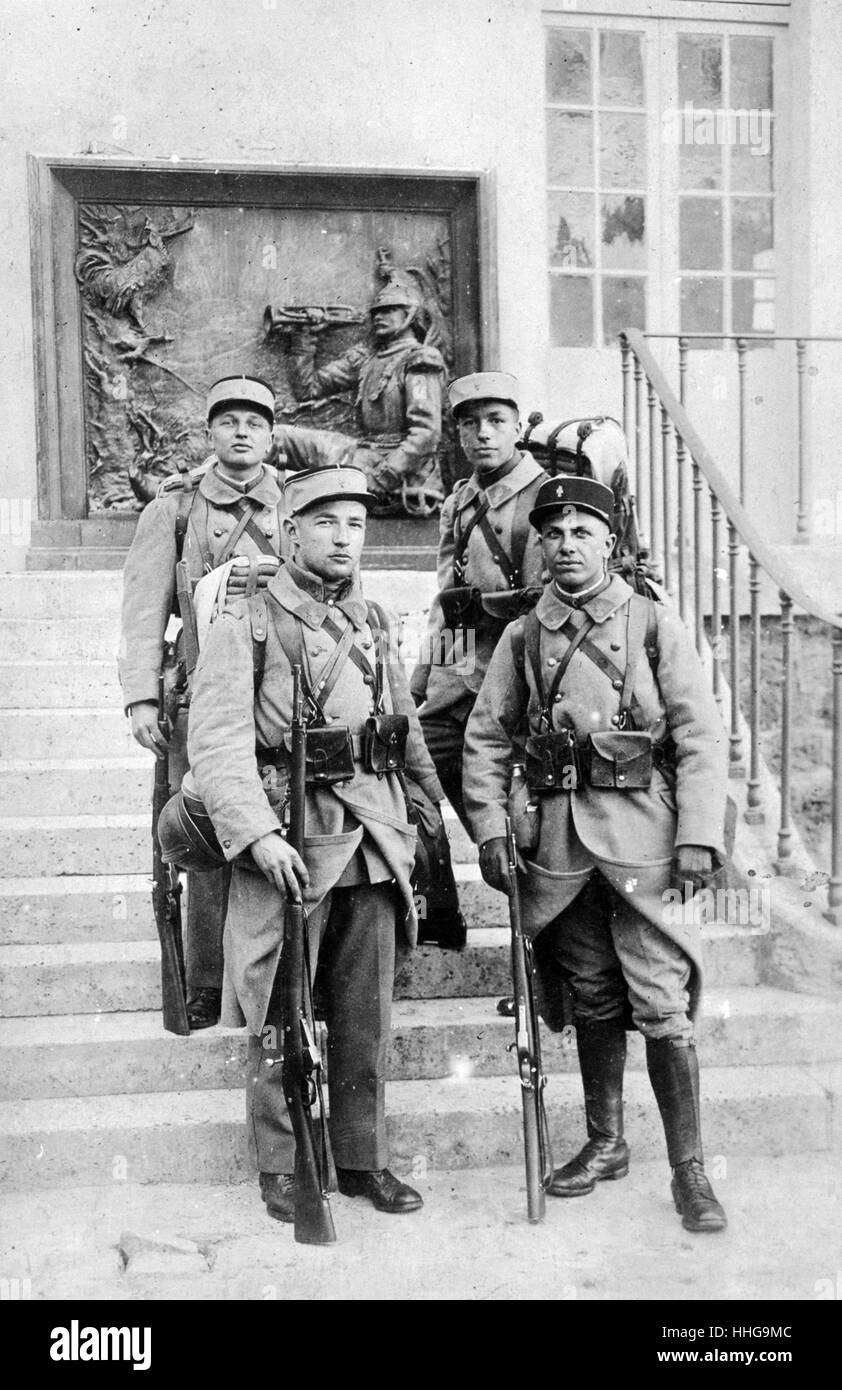 French Foreign legion soldiers in Algeria 1910 - Stock Image