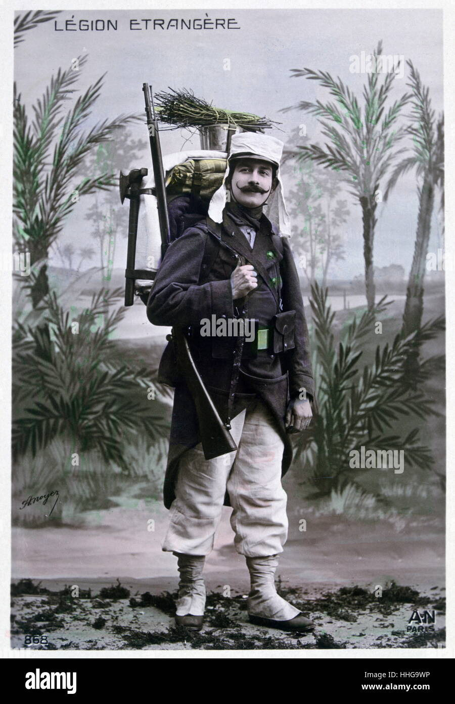 French Foreign Legion, soldier, Algeria, 1910 - Stock Image