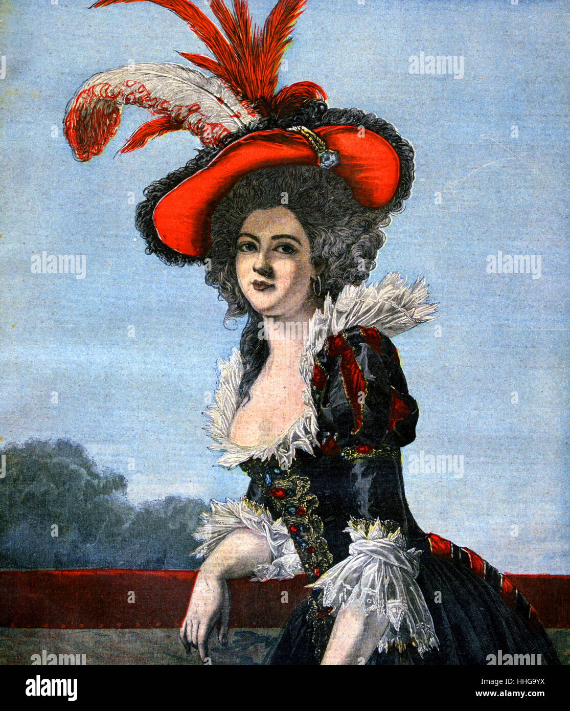 Élisabeth of France (Élisabeth Philippine Marie Hélène de France; 1764 – 10 May 1794 Stock Photo