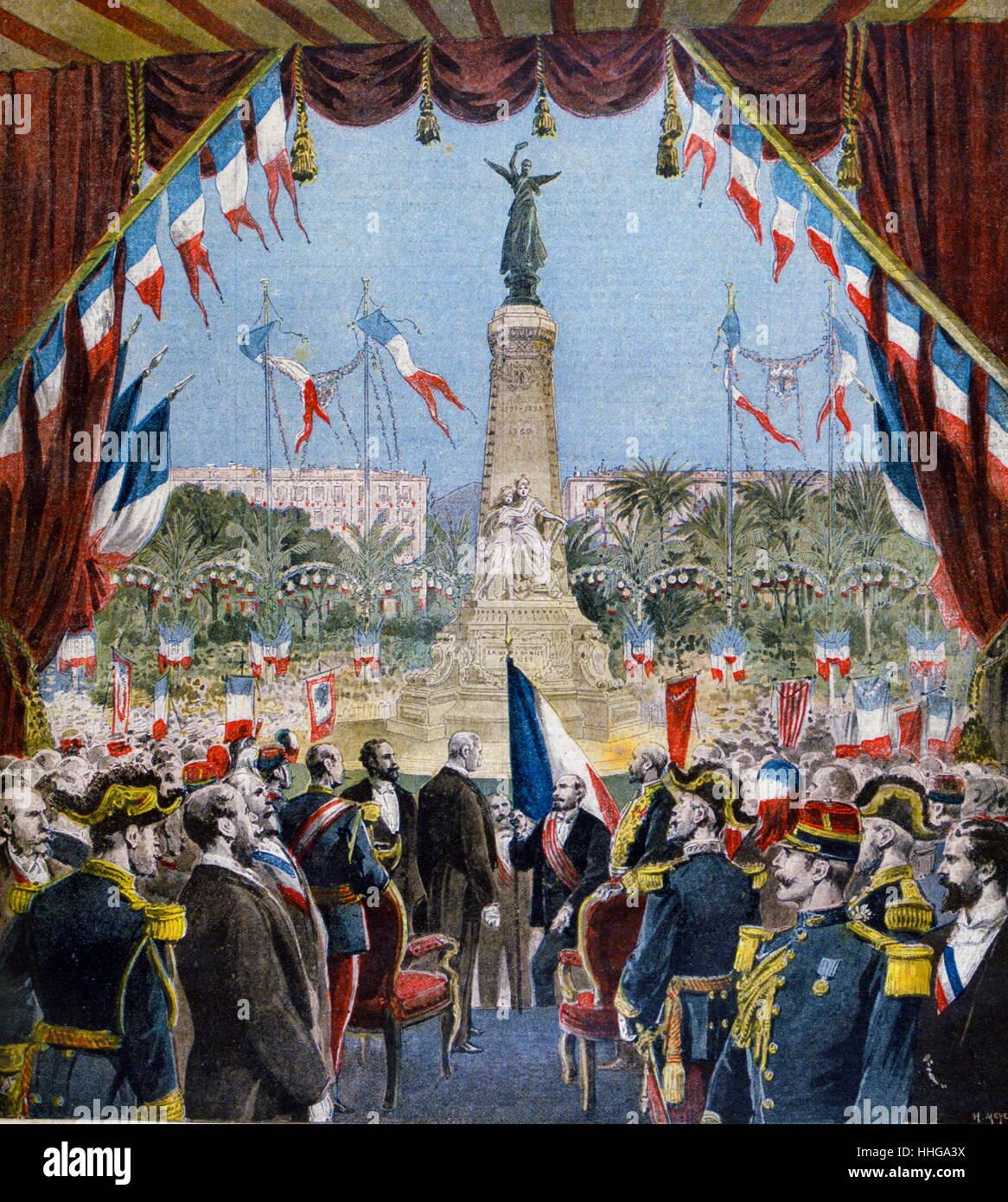 Commemorative celebration in Nice, France 1896 - Stock Image