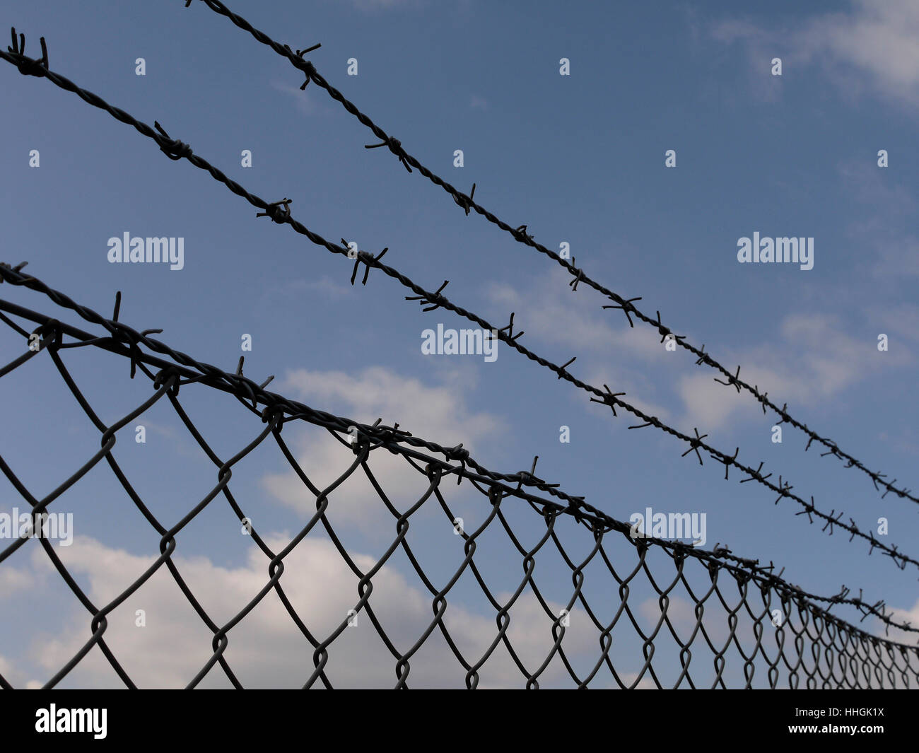 border, wire, fence, fence in, fencing, barbed-wire fence, lock ...