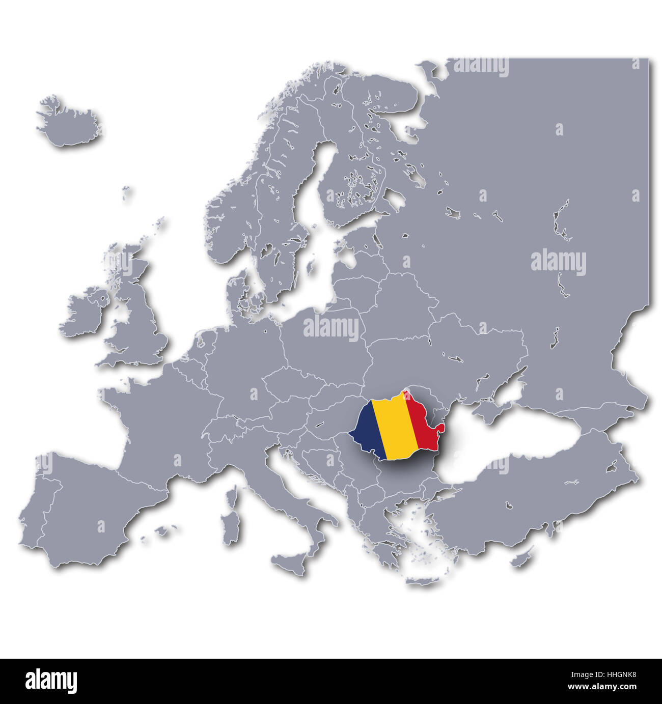 Europe map romania stock photo 131289964 alamy europe map romania gumiabroncs Image collections