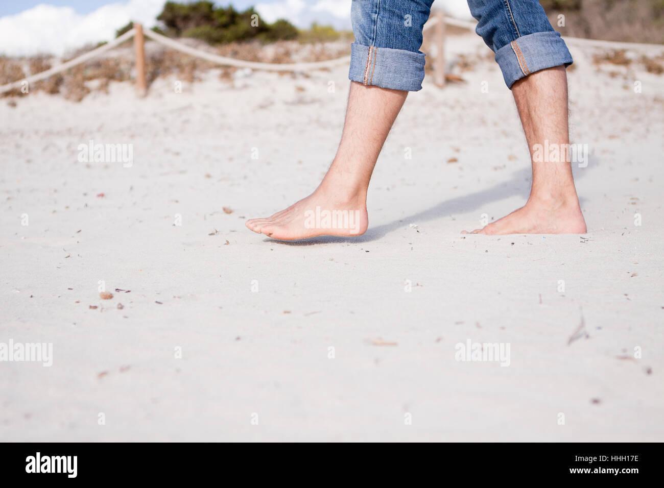 Barfuß Im Sand
