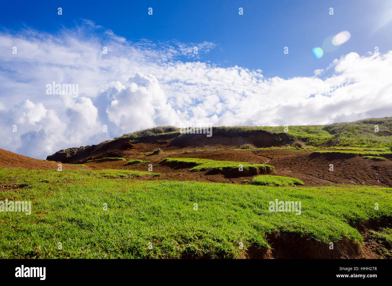 easter island landscape and sky in chile stock photo 131296684 alamy