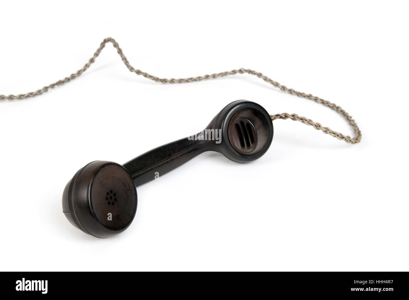 historical, antique, archaic, telephone receiver, old, telephone, phone, - Stock Image