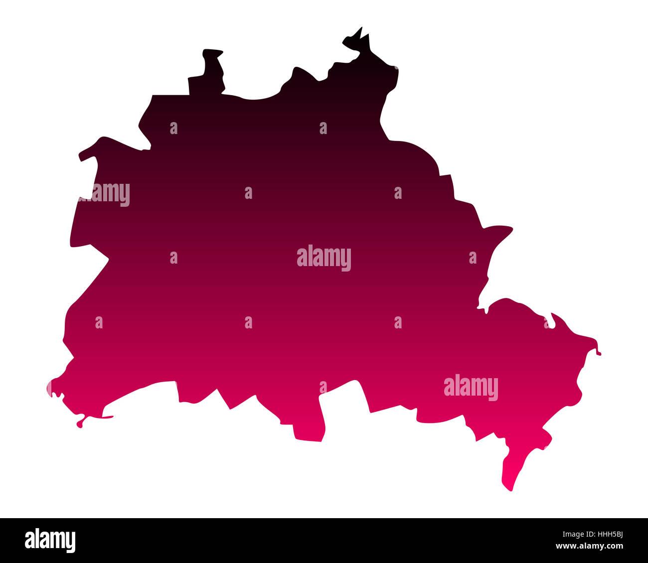 Karte von Berlin - Stock Image