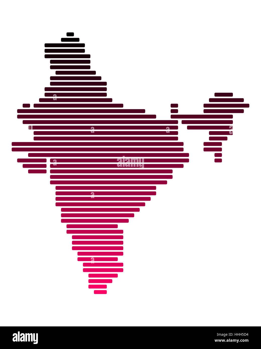 Karte von Indien - Stock Image