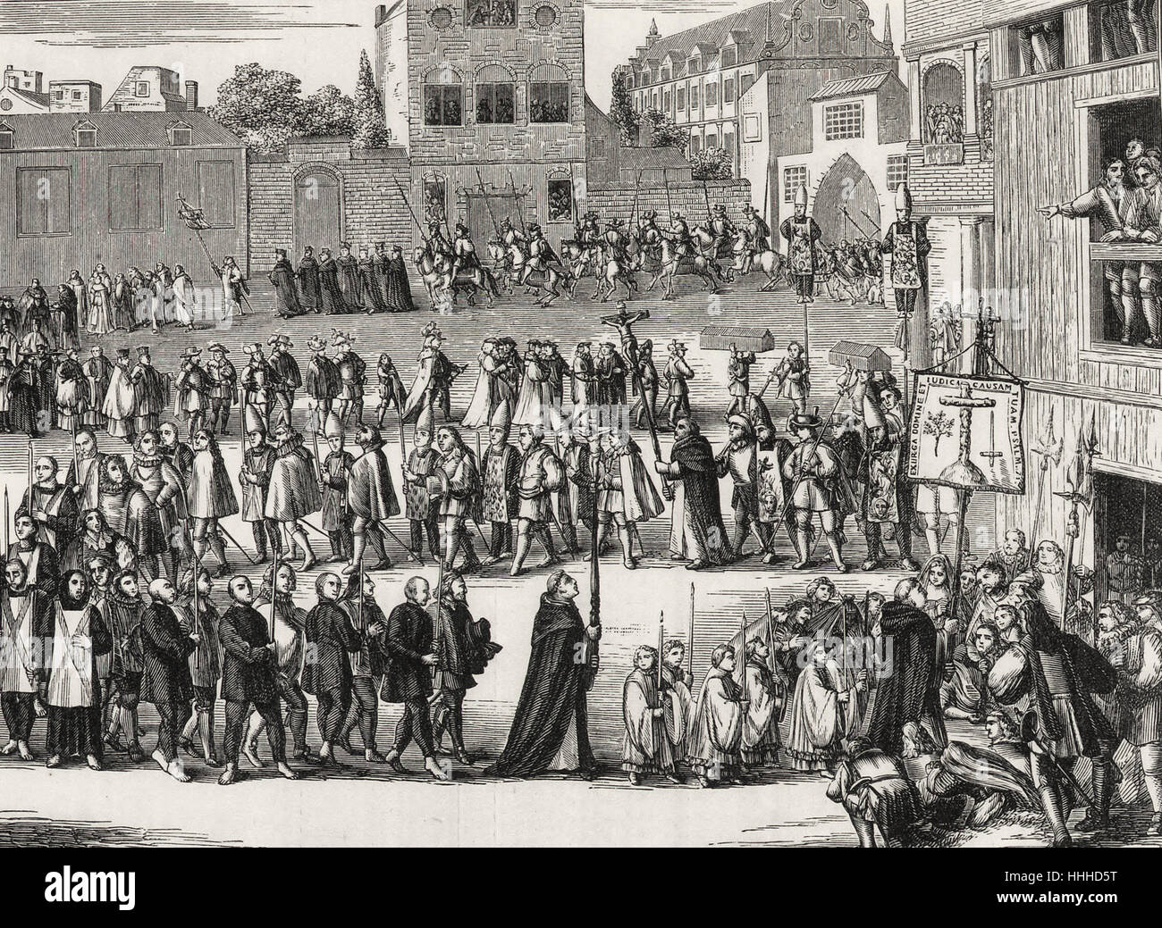 An Auto-da-fe Procession, in Spain, according to the ceremonial observed from the Fourteenth Century - Stock Image