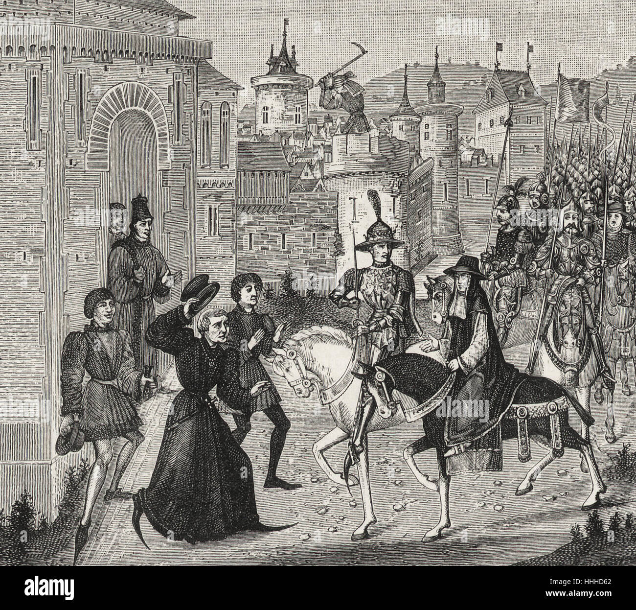 Entry of Louis VIII, King of France, and of Cardinal St. Angelo, the Pope's Legate, upon the 12th of September, Stock Photo