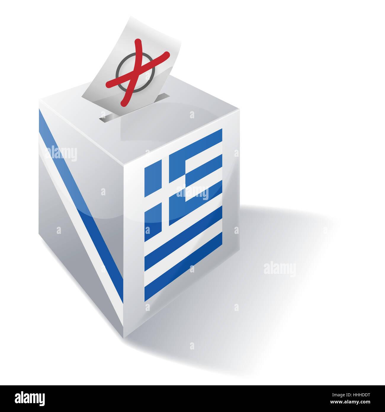 selection box greece - Stock Image