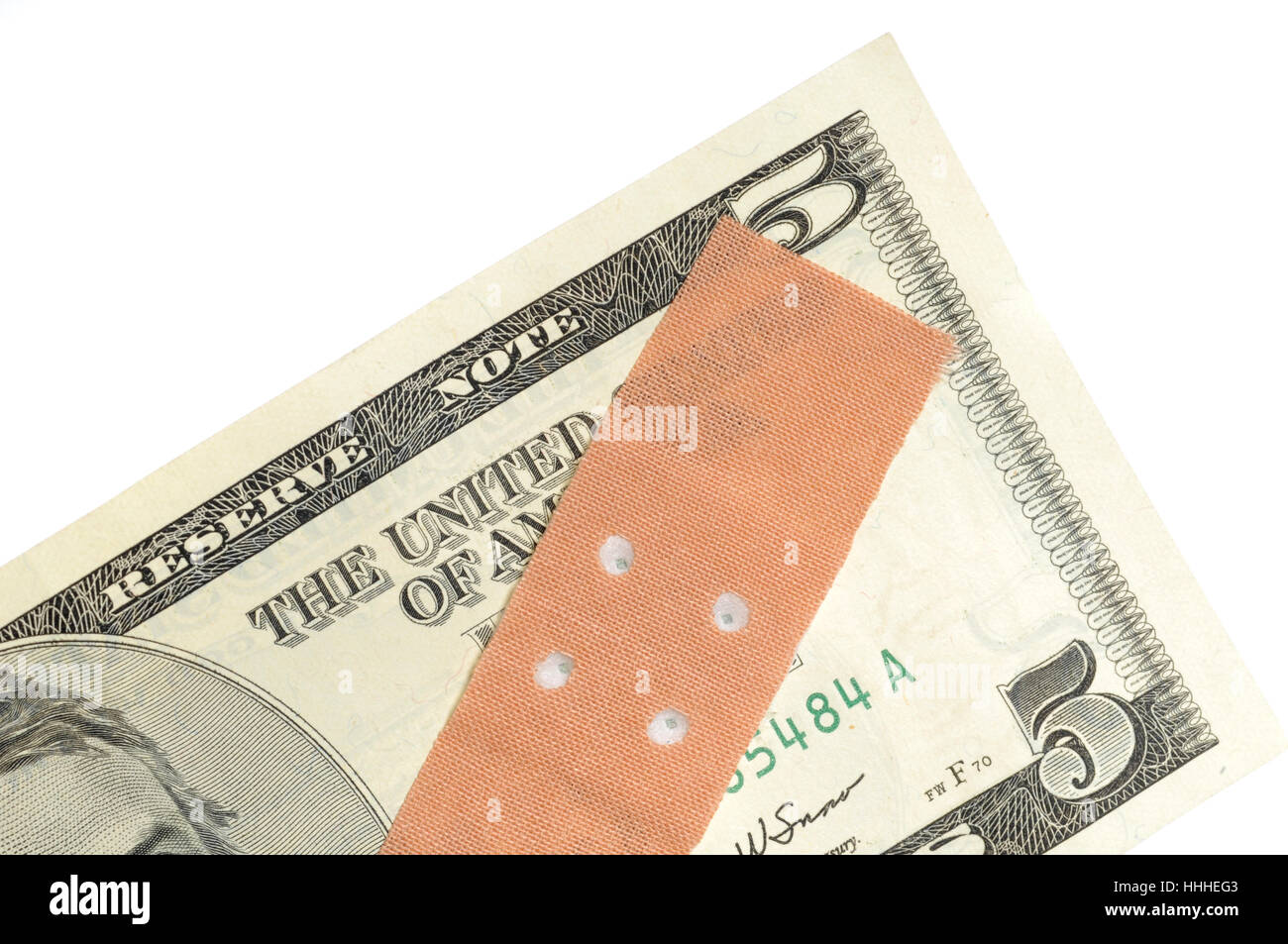 dollar, dollars, plaster, hurt, poor, weak, nervelessly, chippy, dollar, - Stock Image