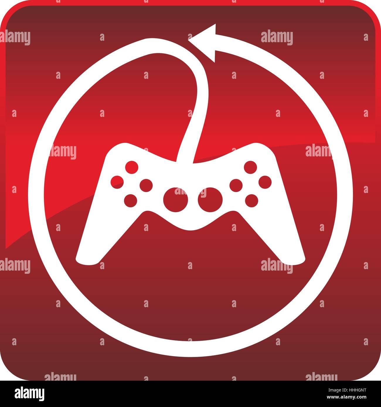 Game Joystick Logo - Stock Image