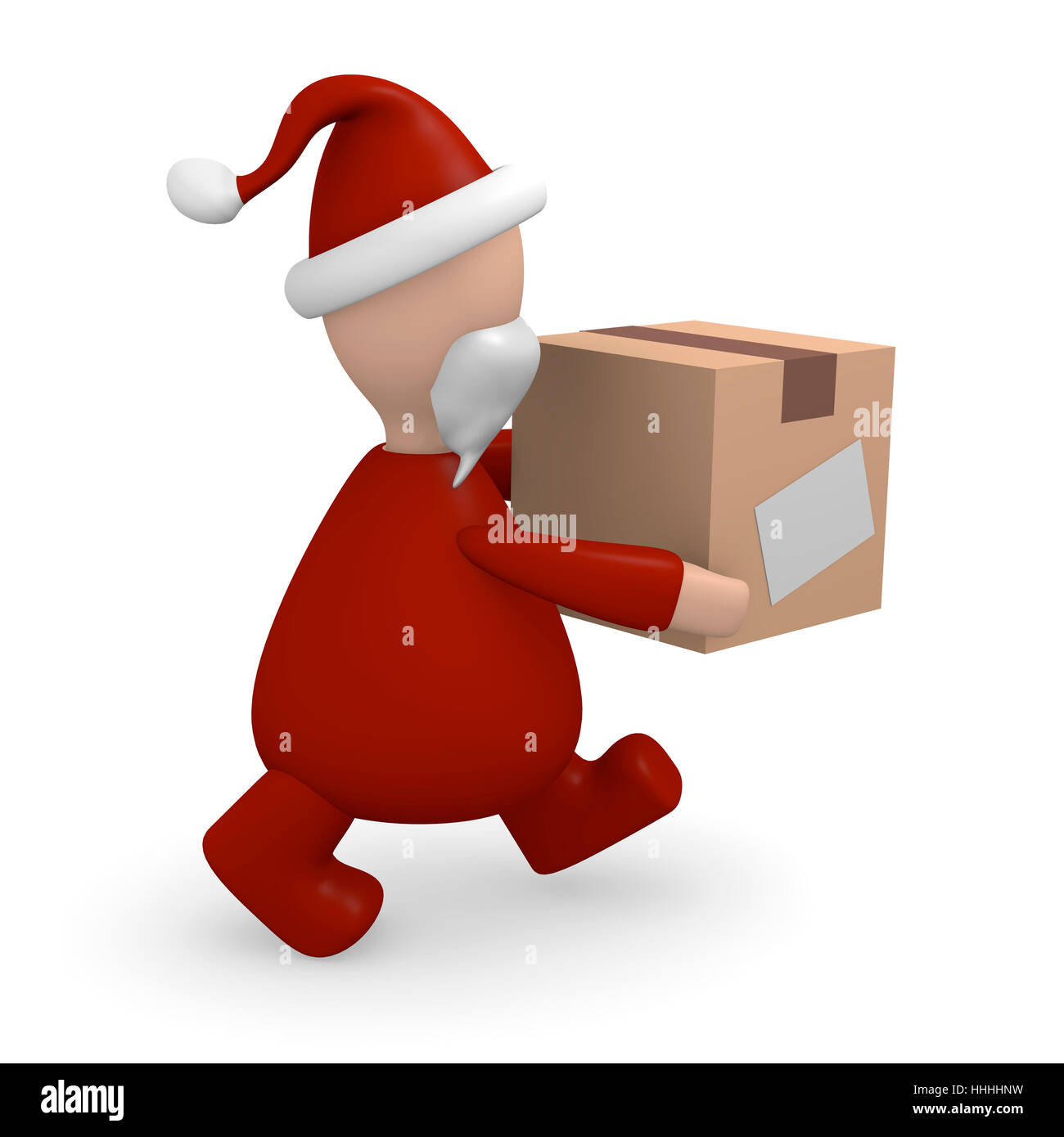 father christmas, nicholas, yule, presents, parcel service, package, packet, Stock Photo