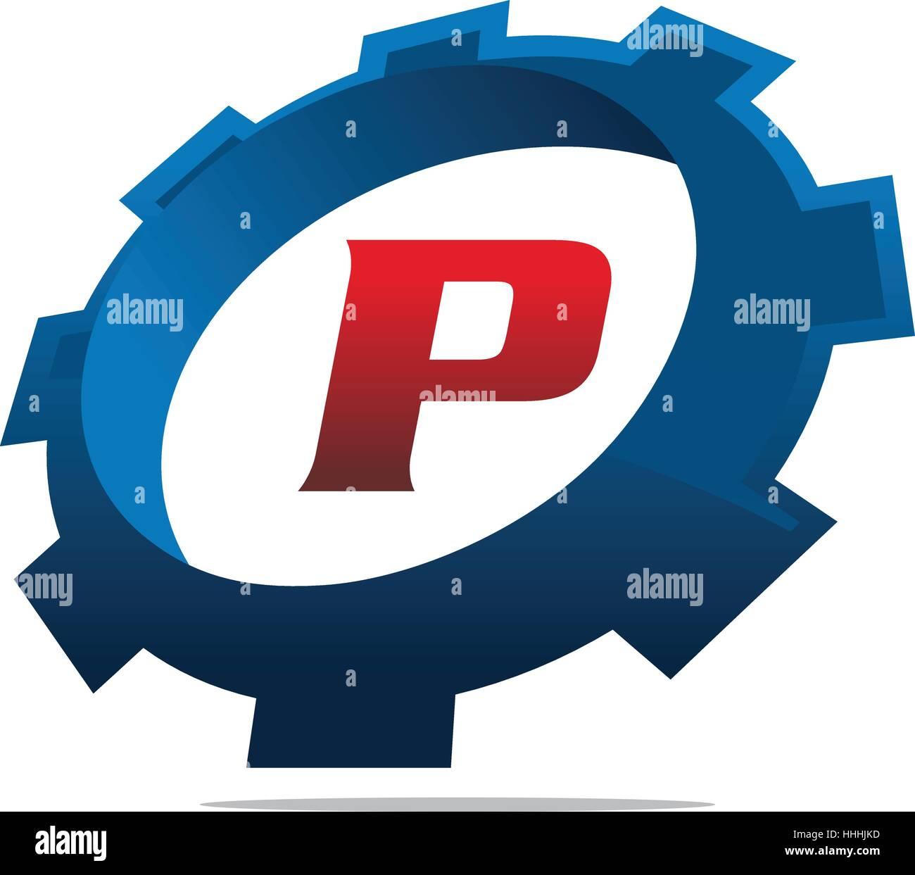 gear logo letter p stock vector art illustration vector image rh alamy com hhs logo image hhh login