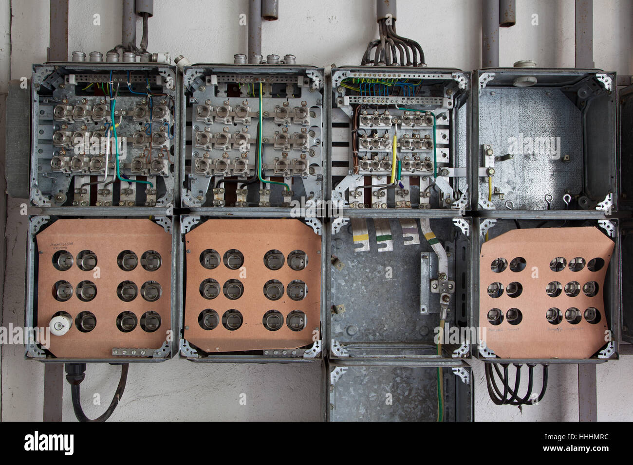 ailing, plant, distribution, dismantled, old, channel, ailing, plant, switch, - Stock Image