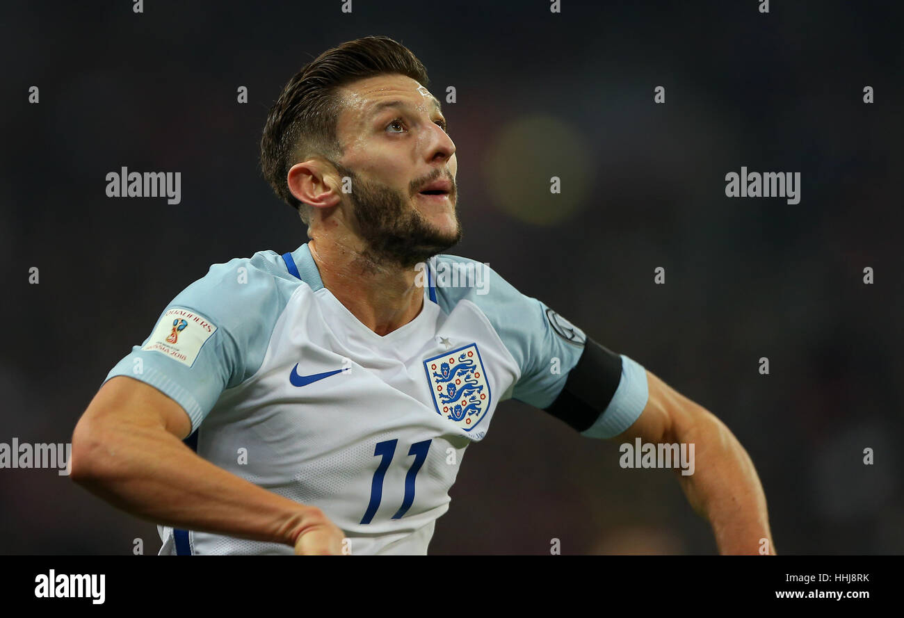 England s Adam Lallana seen during the FIFA World Cup Qualifier match  between England and Scotland at c259dc248