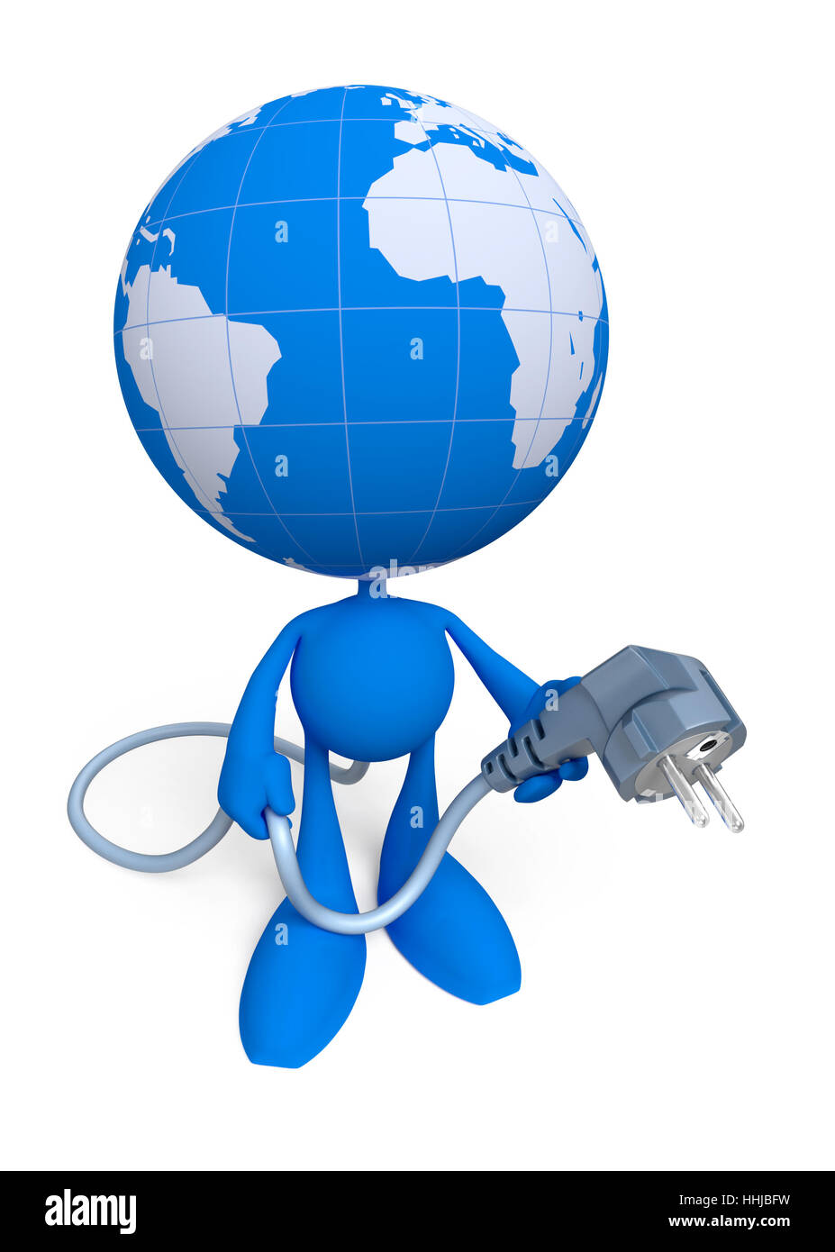 Lets Give The World ... An Electric Power - Stock Image