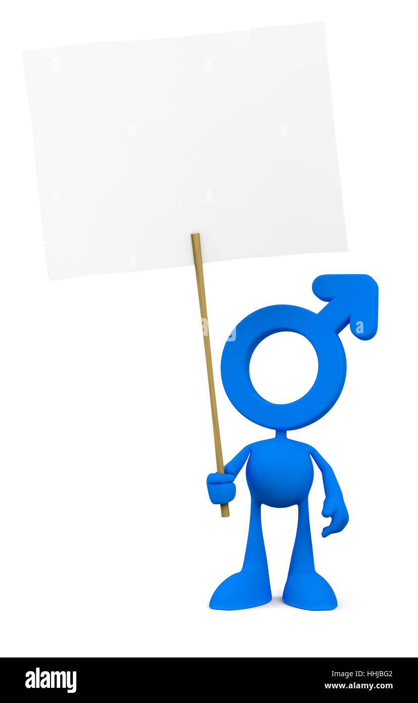 Cartoon Protester - Stock Image