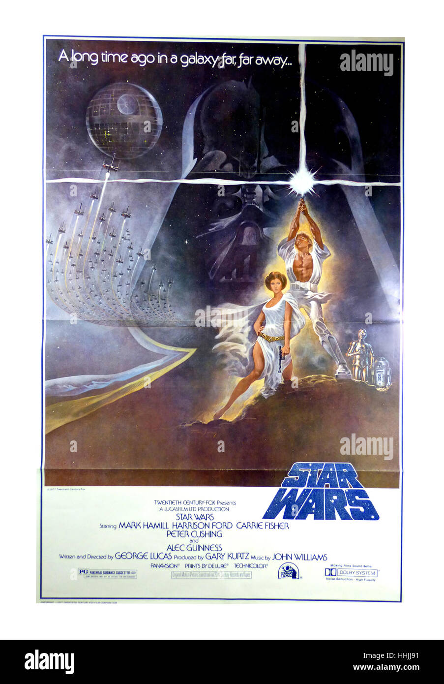 Star Wars Original Film Movie Poster 1977 - Stock Image