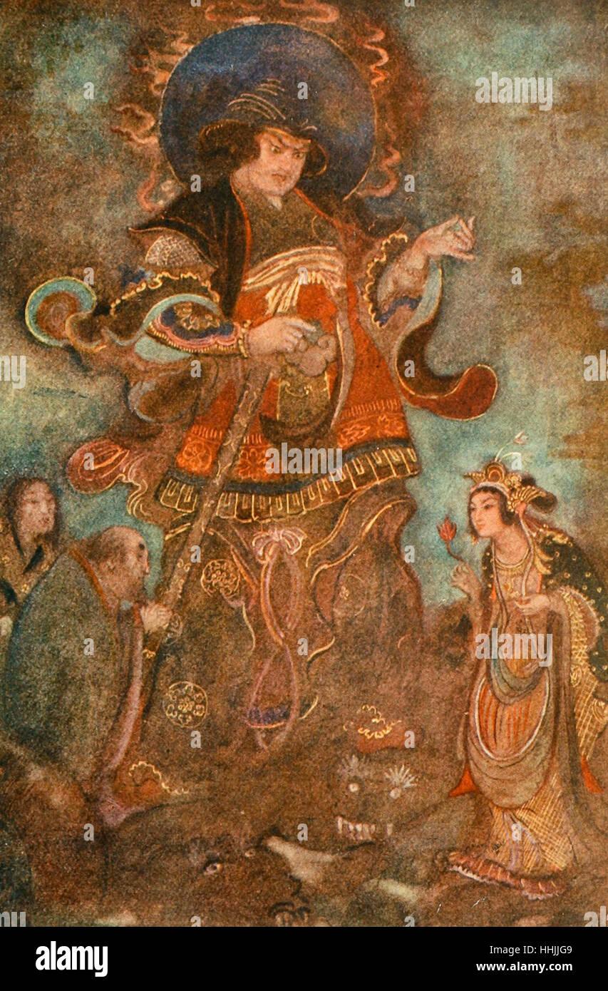 Susa-no-o and Kushi-nada-hime, Japanese Mythology - Stock Image