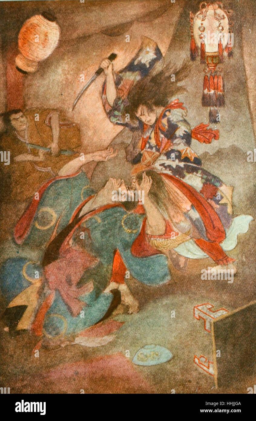 Prince Yamato and Takeru - Stock Image