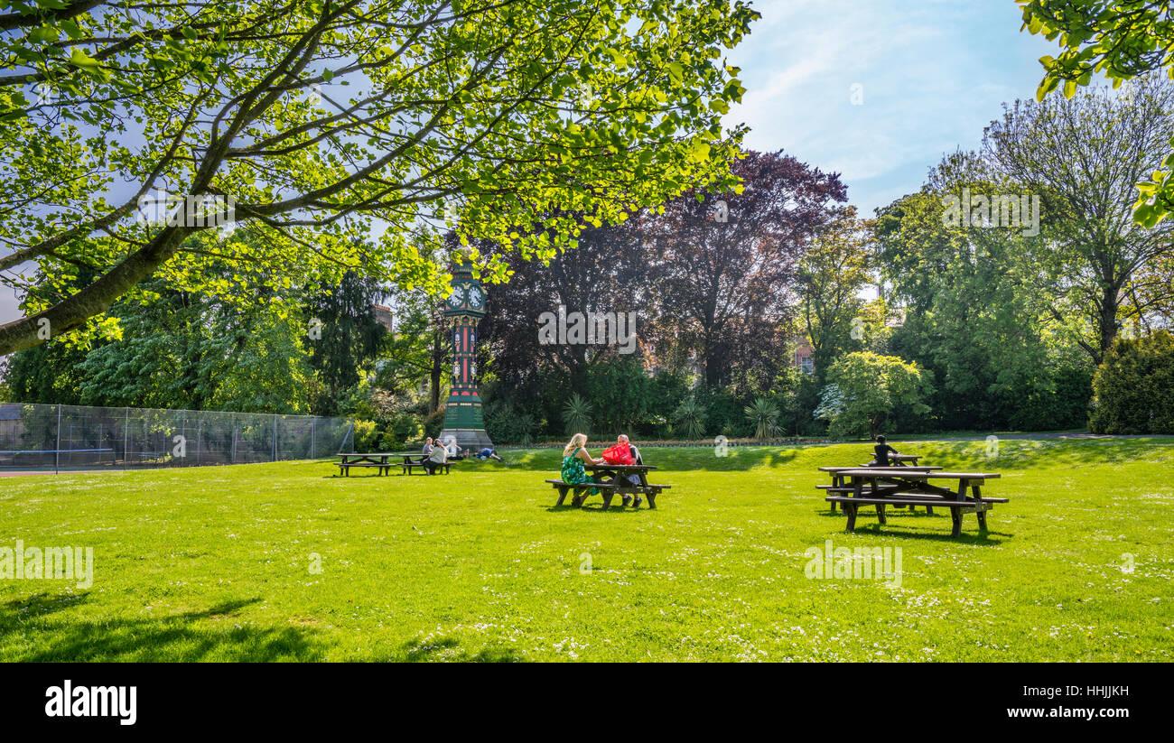 Great Britain, Dorset, Dorchester Borough Gardens - Stock Image
