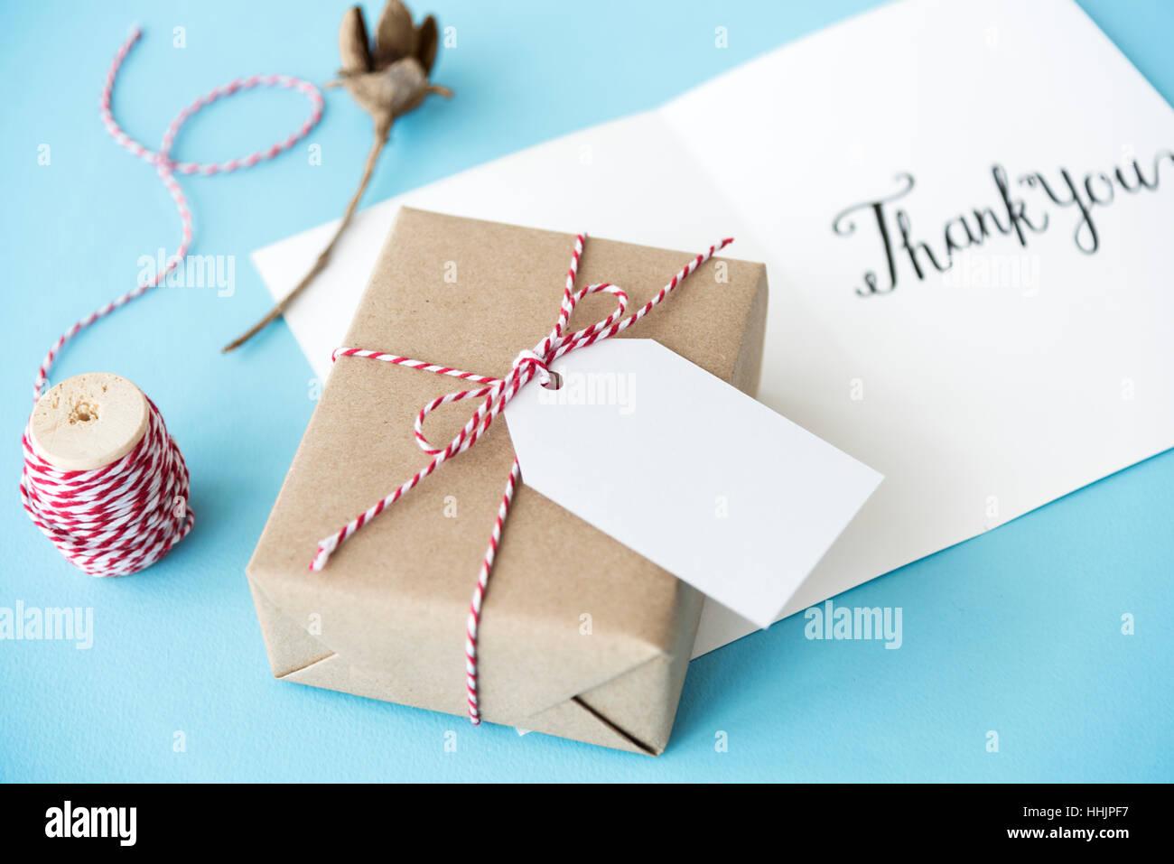 Thank You Gratitude Marci Gracias Danke Concept Stock Photo