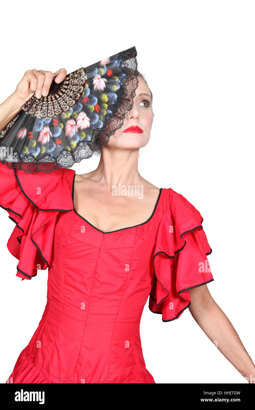 spain, traditional, dancer, dancing girl, spanish, flamenco, dancing, dance, - Stock Image
