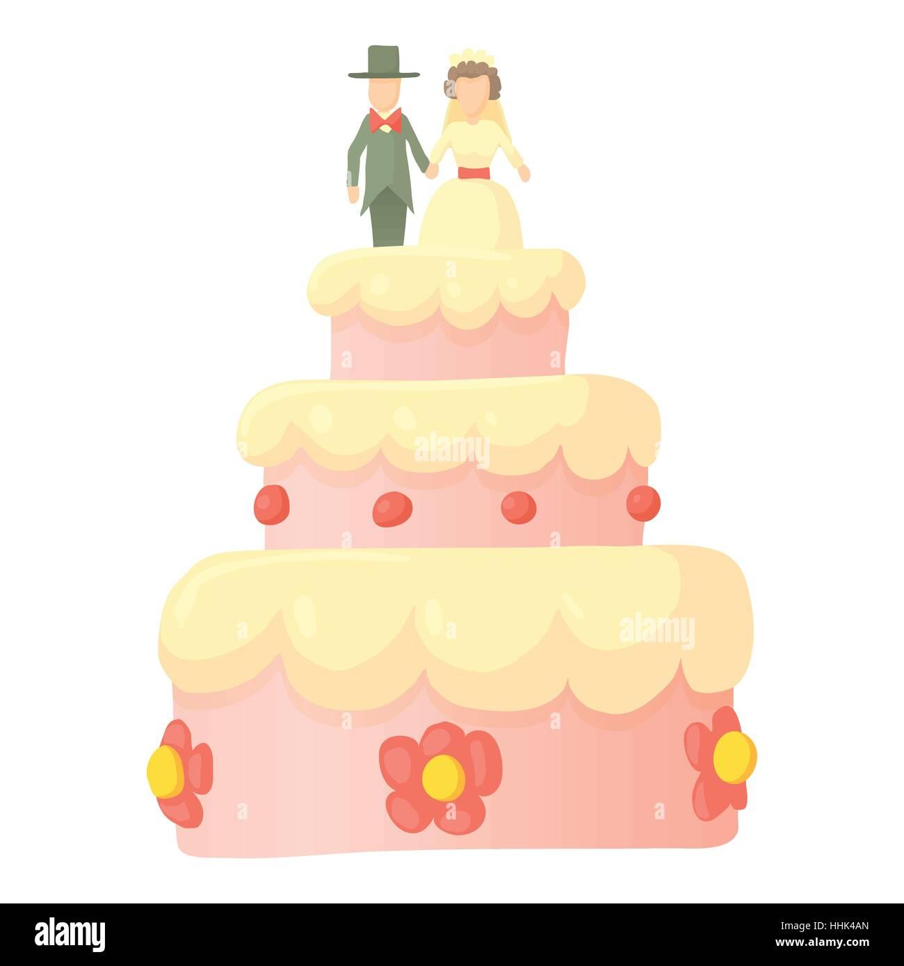 Wedding Cake Figures Stock Vector Images - Alamy