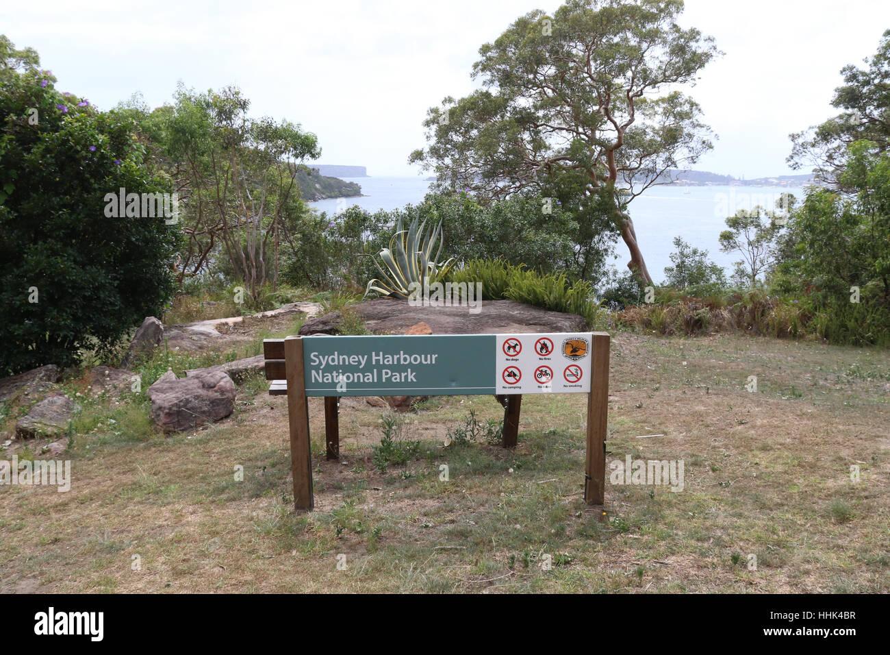 Sydney Harbour National Park, Mosman on Sydney's Lower North Shore. - Stock Image