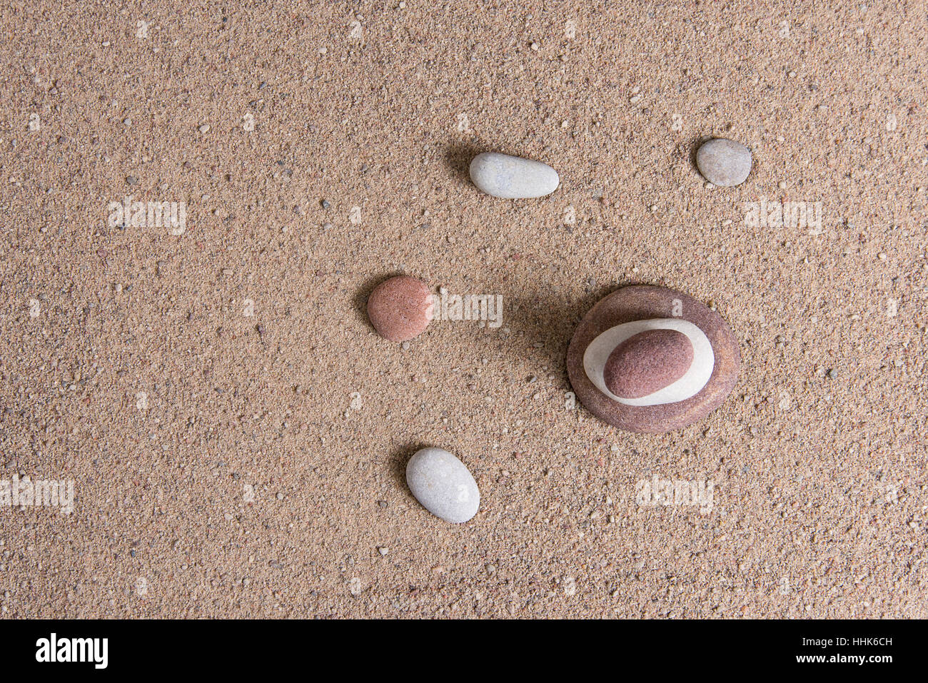 zen garden sand waves and rock sculptures Stock Photo: 131343873 - Alamy