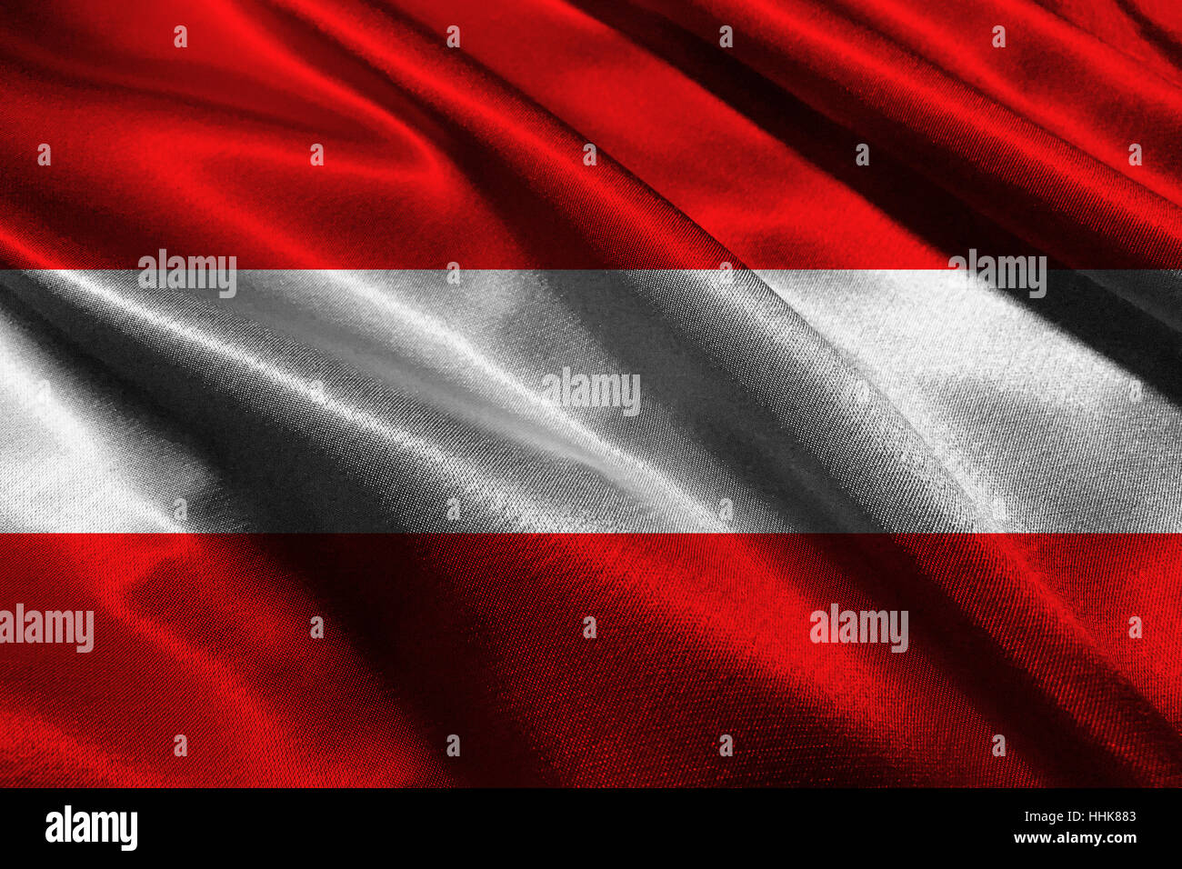 Austria flag ,Austria national flag 3D illustration symbol. - Stock Image