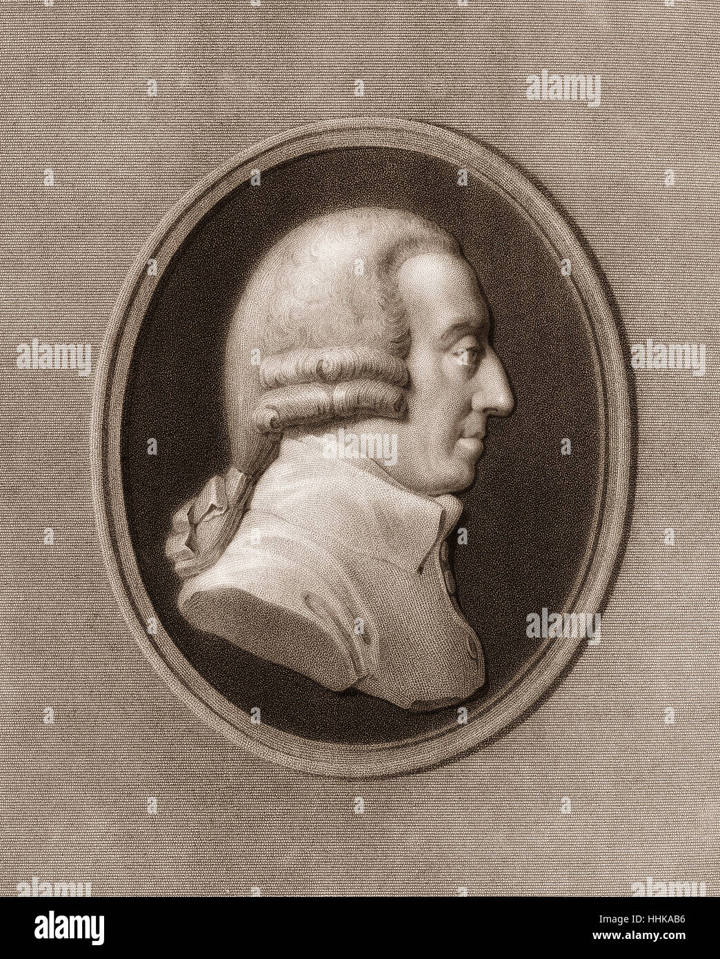 Adam Smith, 1723-1790, a Scottish moral philosopher - Stock Image