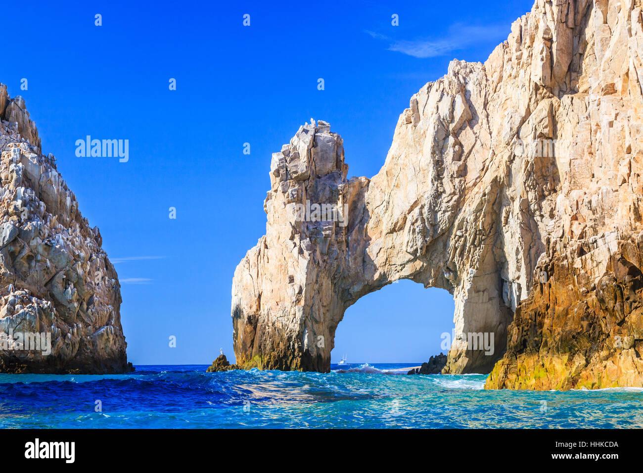 Cabo San Lucas, Los Arcos. Mexican riviera, Mexico. - Stock Image