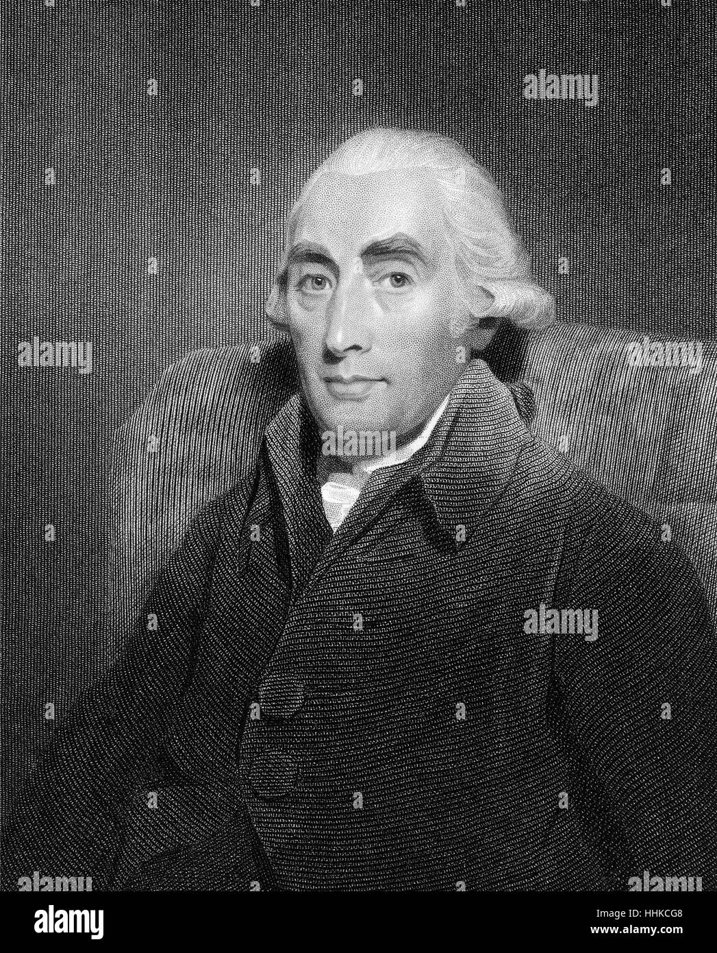 Joseph Black, 1728-1799, a Scottish physician and chemist - Stock Image