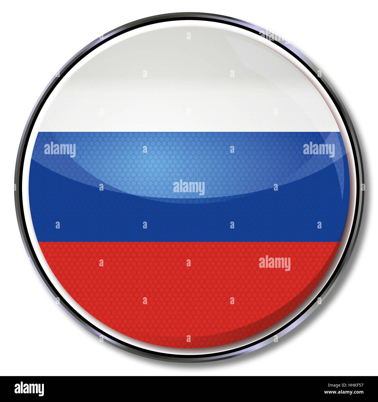 button, russia, russian, eurasia, moscow, europe, flag, border, button, card, - Stock Image