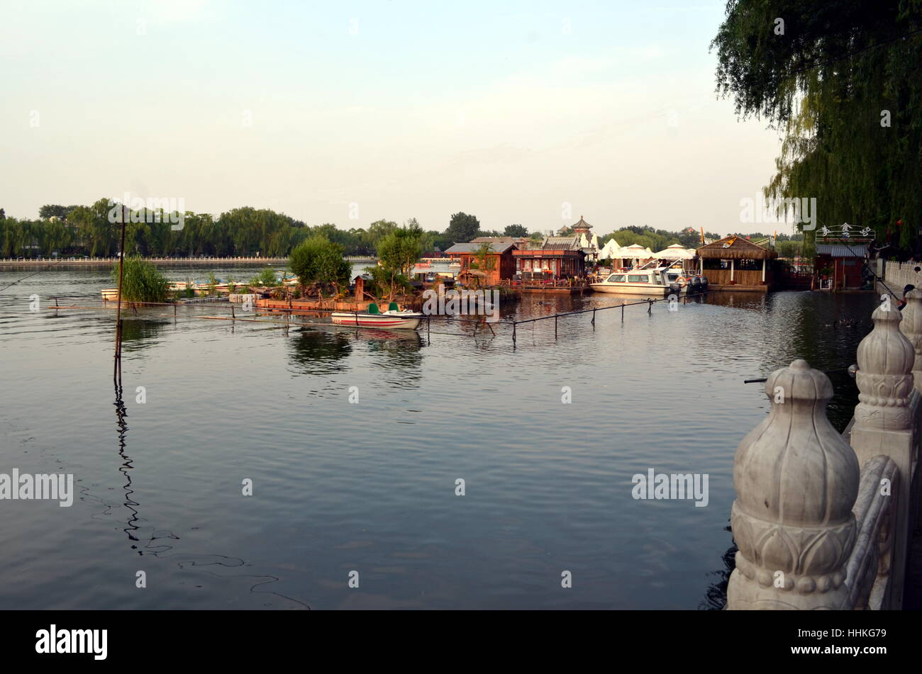 Shichahai Scenic Area The area is the capital of the old Beijing style to preserve the most perfect place - Stock Image