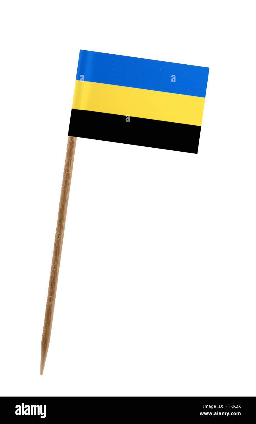 Tooth pick wit a small paper flag of Stock Photo