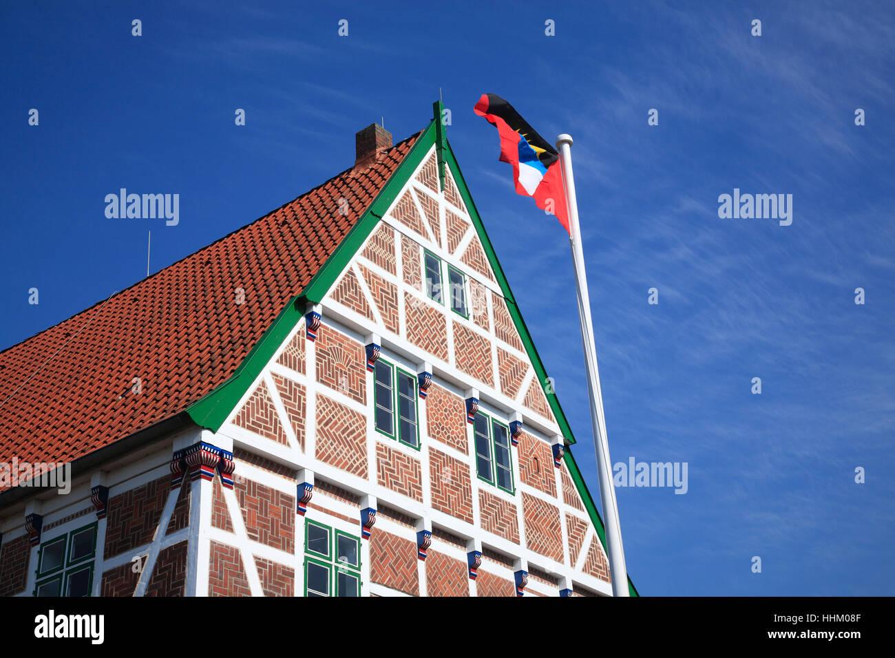 Borstel, Wehrtscher Hof, Altes Land, Lower Saxony, Germany, Europe - Stock Image