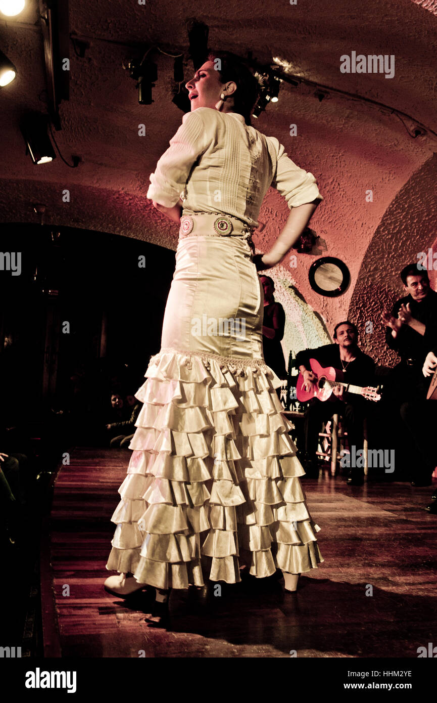 Flamenco dancer - Stock Image