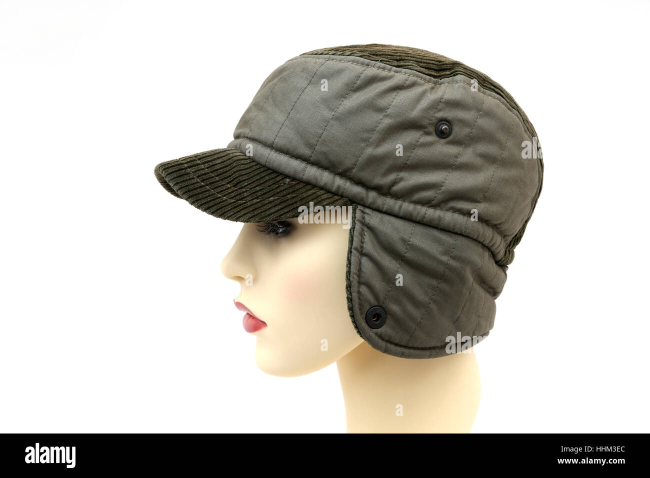 Winter Cap With Ear Flaps Stock Photo  131363524 - Alamy ddb31e28a05