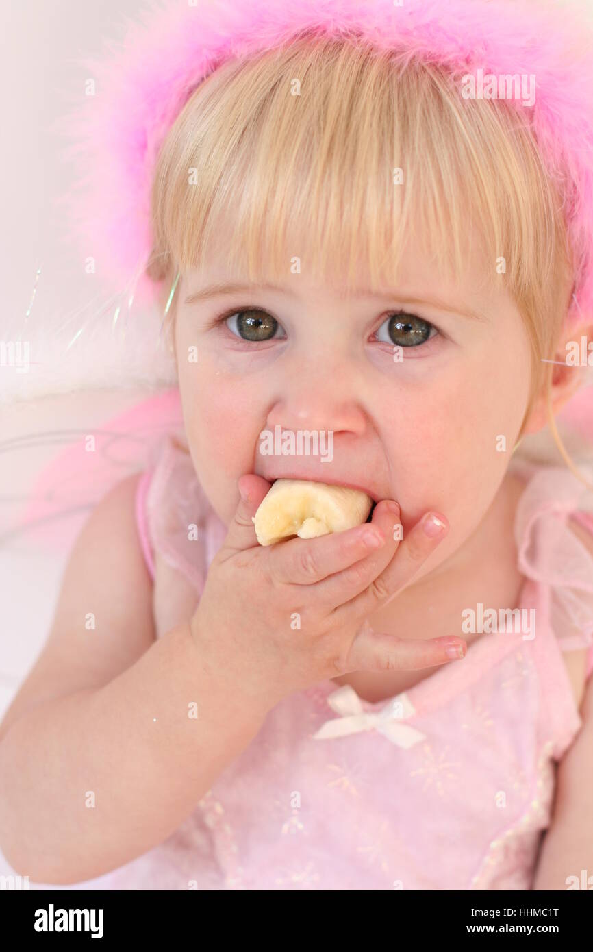 Baby Girl Fairy Eating A Banana Fairy Costume Baby First Foods