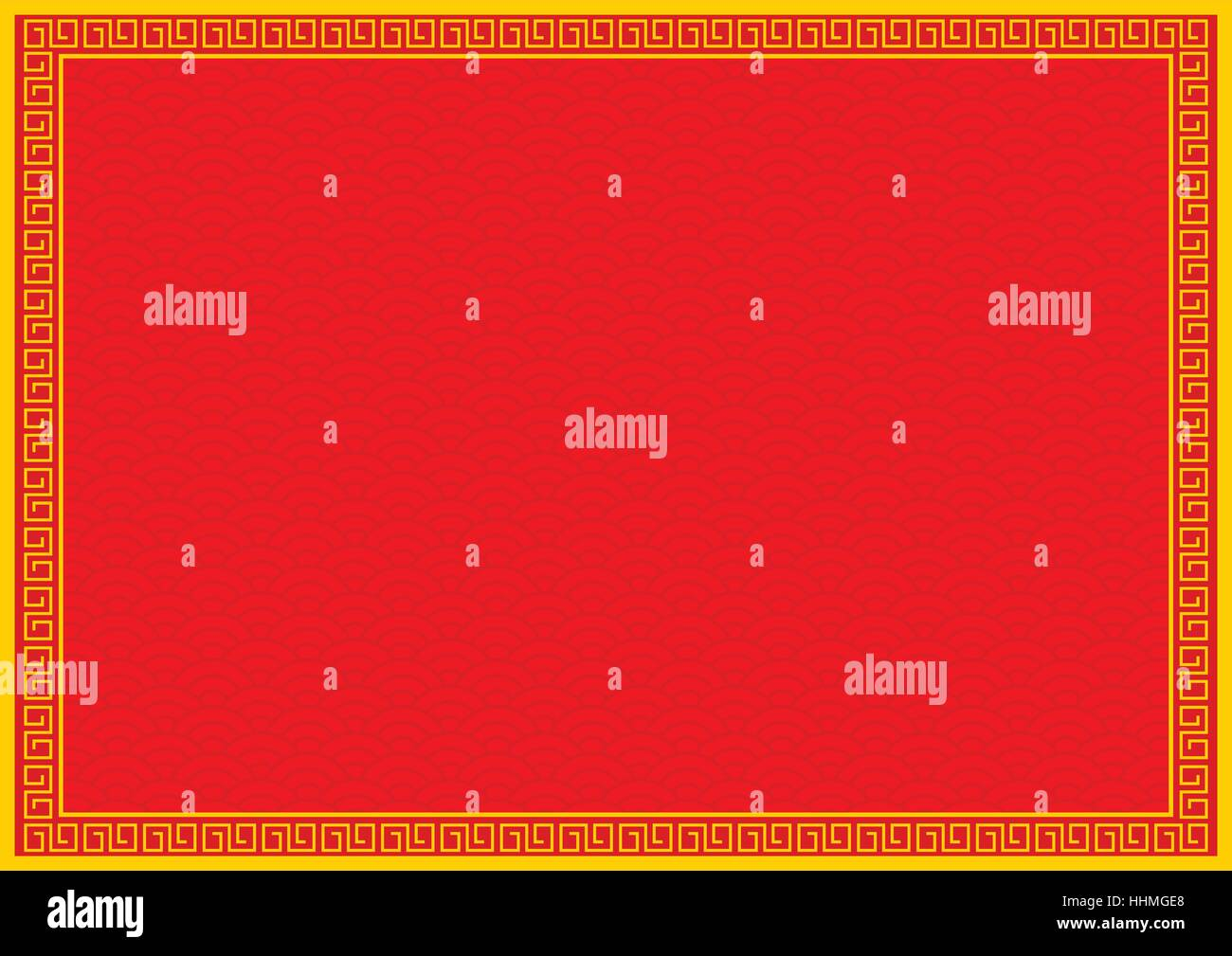 chinese new year background with yellow gold border abstract oriental wallpaper with decoration frame