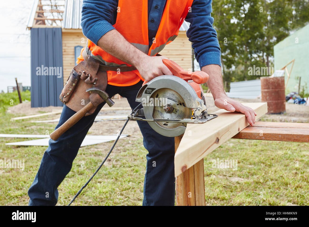 Team Saw Stock Photos Images Page 3 Alamy Wiring Diagram For Craftsman Circular Used By During Diy Construction Project Image