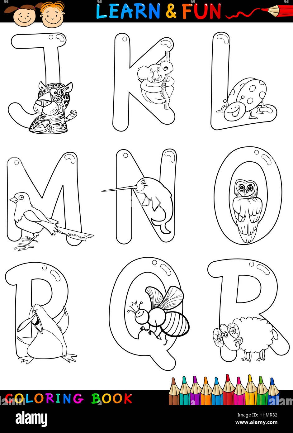 Animals With Letter S Coloring Pages