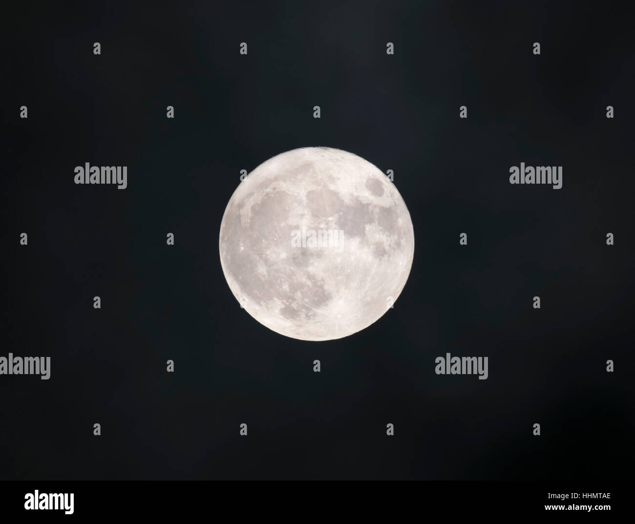 Full moon, Bavaria, Germany - Stock Image