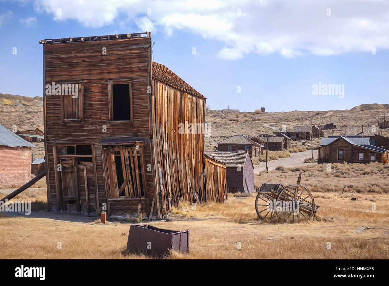 The ghost town of Bodie, California, is a landmark visited by people from all of the world. - Stock Image